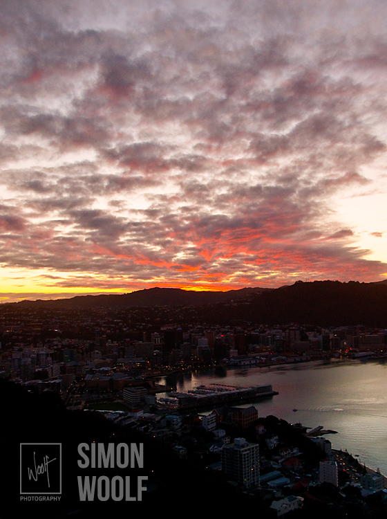 #3148, Sunset Over Wellington