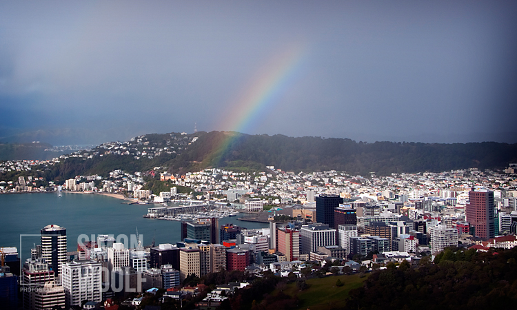 #3175, Rainbow over Mt Victoria