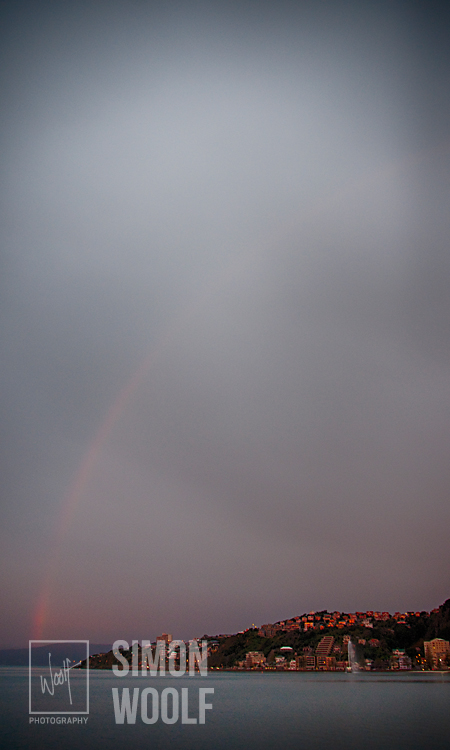 #3176, Rainbow over Oriental Bay