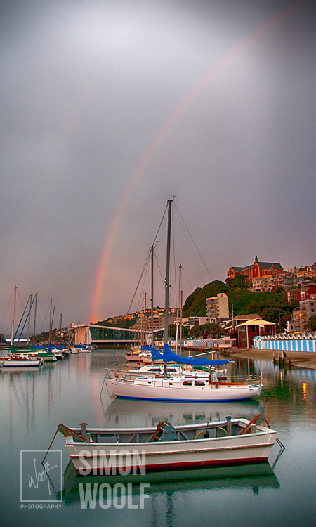#3177, Rainbow over Port Nicholson