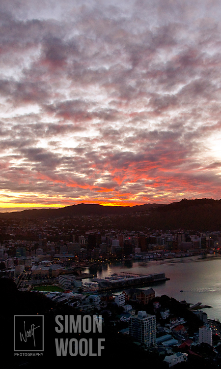 #3191, Sunset Over Wellington