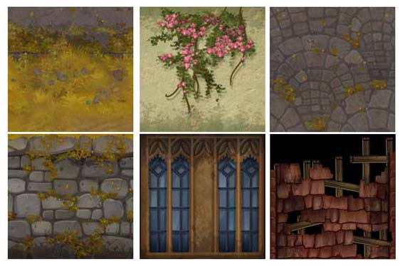 Hand painted texture maps