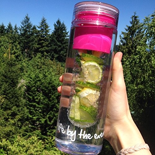 MOTIVATION INFUSER BOTTLE <3 If you have a hard time drinking water, try placing fruits/veggies in it. It can be used as a natural sweetener. I personally love the combination of strawberries and blueberries. On days I wanna detox, I'll throw in cucumbers and lemons. Further, I like to use an infuser bottle b/c it's easy to clean up but if you don't have one you can easily place it in a bottle or mason jar.