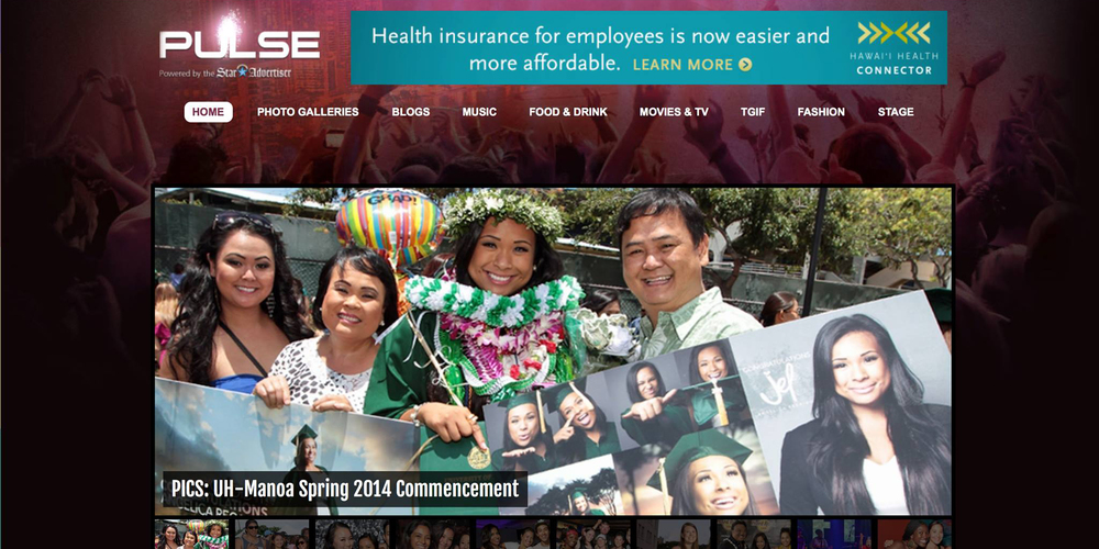 Made it on the cover of Pulse Honolulu Advertiser Website