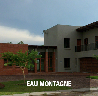 EAU MONTAGN.   Newly built double storey, full title unit situated in a secure complex. Close to schools, hospitals, supermarkets, churches, etc.  Easy access to all major roads.  1 Hours drive from Pretoria & Thabazimbi and 20 min from Modimolle (Nylstroom)   Quiet area with a bushveld ambience.   Four bedrooms (2 bedrooms en-suite), 3 bathrooms, guest toilet, dining room, lounge area and designers kitchen with separate scullery.    Luxury features include a central vacuum system and DSTV dish with 4 separate connections.   Balcony and patio with large built-in braai. Separate servants toilet and fully installed irrigation system.   The home is fitted with a pre-paid electricity system.    PRICE: R1 285 000
