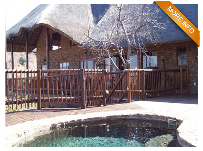 PTY07 | Extraordinary views! 3 Bedrooms, 3 Bathrooms, large open-plan kitchen with separate laundry and pantry. Large dining- and living room. Loft with office, bedroom and bathroom. Lovely covered deck with swimming pool. Garage, storeroom and 2 carports. Game drive vehicle included!  PRICE: R2 700 000