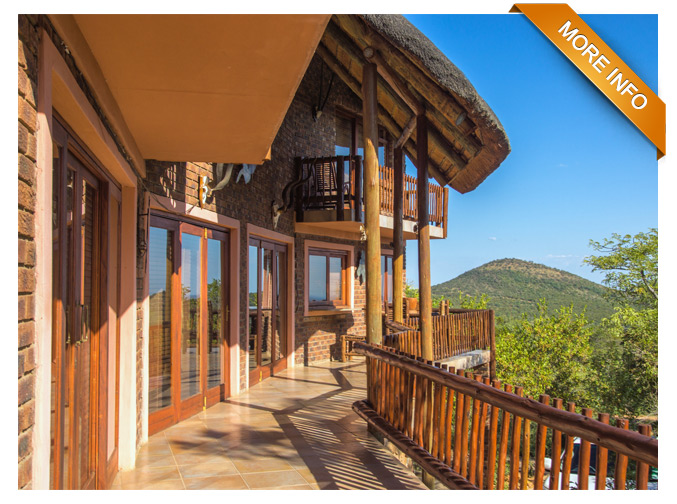 PRM042   |  R3 500 per night   Spectacular views & lovely outside entertainment area 3 en-suite bedrooms Open-plan kitchen and dining room Lounge with fireplace and bar Beautiful lapa, braai area & braai pit Swimming pool Undercover carport PRICE: R3 500 PER NIGHT