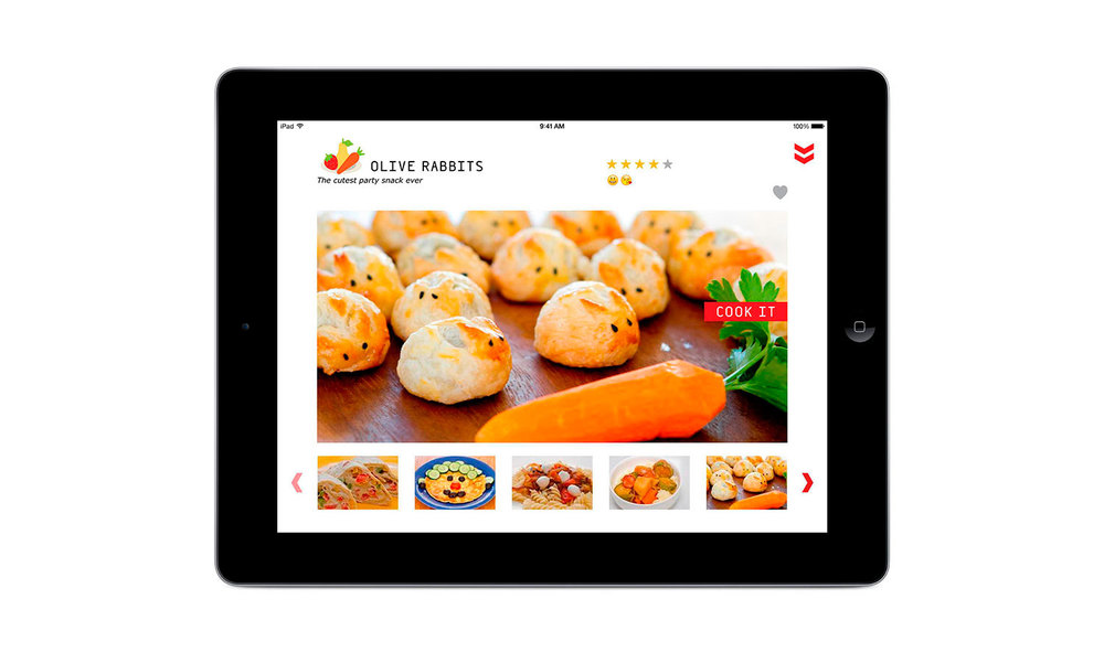 Copy of app design for WeCookit Interactive cooking platform for kids