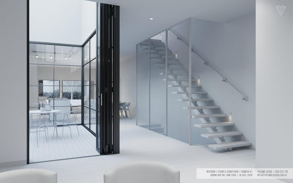 Interior_Stairs & Courtyard Backyard_Burns_Bay_Camera_#1.jpg
