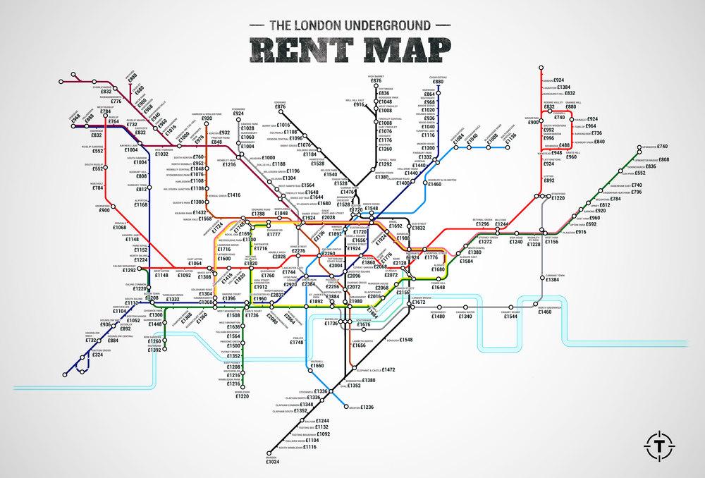 London Rent Map Prattle Jaw - Cockroach Us Map