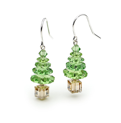 earrings filigree tree christmas