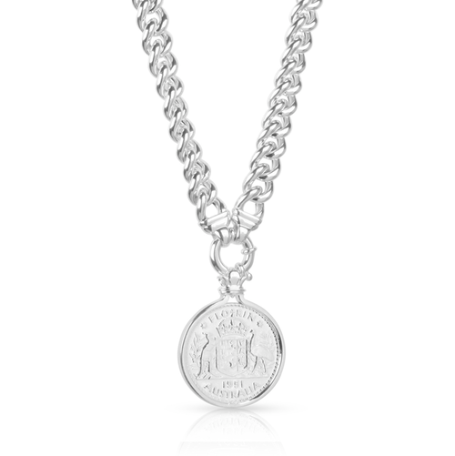 Australian florin pendant witalian 12mm hollow curb chain australian florin pendant witalian 12mm hollow curb chain necklace mozeypictures Image collections