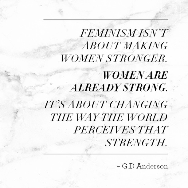 """Feminism isn't about making women stronger. Women are ⠀⠀⠀⠀⠀⠀⠀⠀⠀ already strong. It's about changing the way the world perceives that strength."" G.D Anderson⠀⠀⠀⠀⠀⠀⠀⠀⠀ .⠀⠀⠀⠀⠀⠀⠀⠀⠀ Happy International Women's Day lovely ladies ♡⠀⠀⠀⠀⠀⠀⠀⠀⠀ .⠀⠀⠀⠀⠀⠀⠀⠀⠀ #iwday2018 ⠀⠀⠀⠀⠀⠀⠀⠀⠀ #internationalwomensday ⠀⠀⠀⠀⠀⠀⠀⠀⠀ #womensupportingwomen"