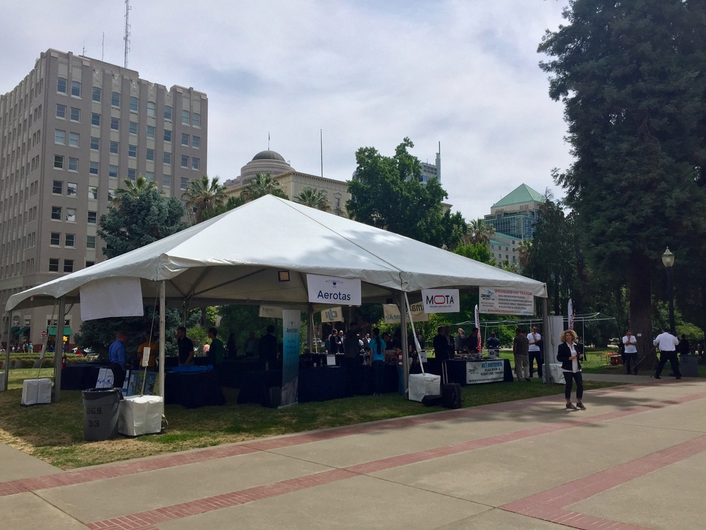 Displays on the Capitol's north lawn allowed the public to interact with the drone industry