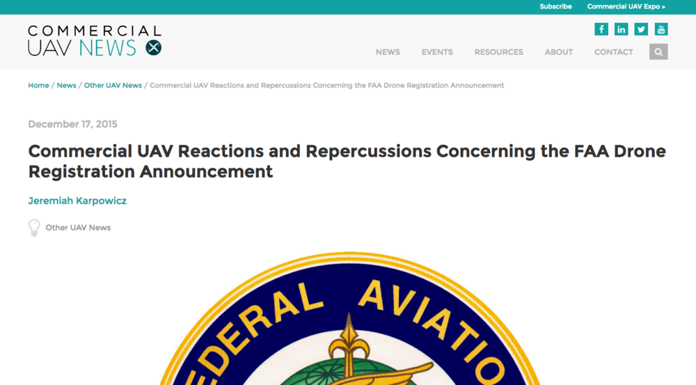 FAA UAV laws and regulations