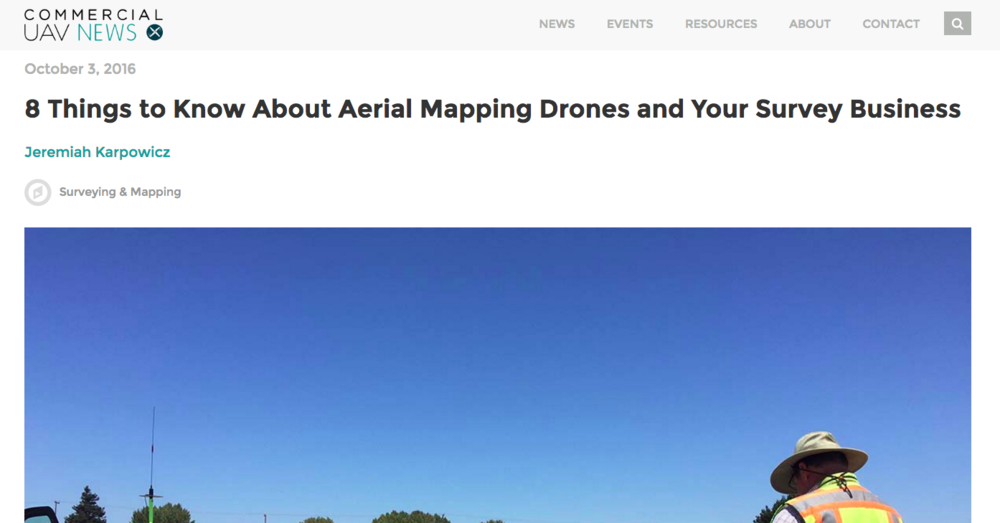 Drone surveying and UAV mapping