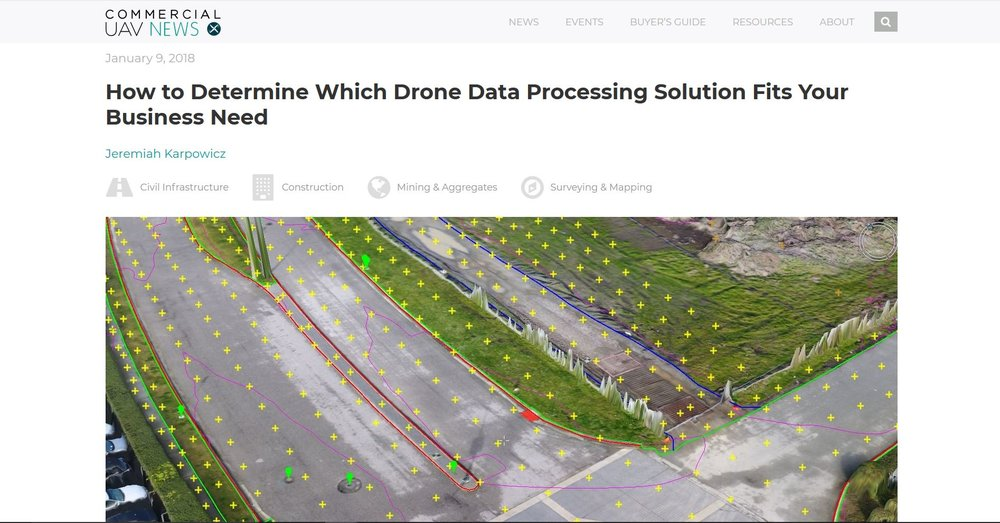 Expert drone surveying data processing