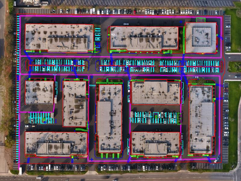 Drone ALTA survey linework