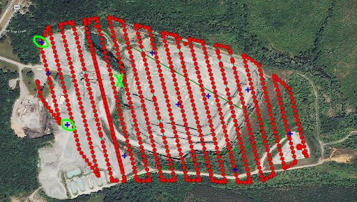 Bad ground control distribution negatively impacts the accuracy of the model.