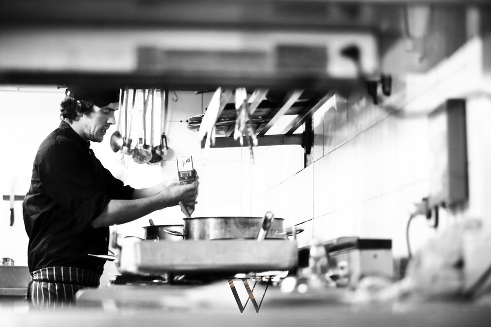 Head Chef Marc, oversees the preparation of all dishes, whilst being completely hands on.