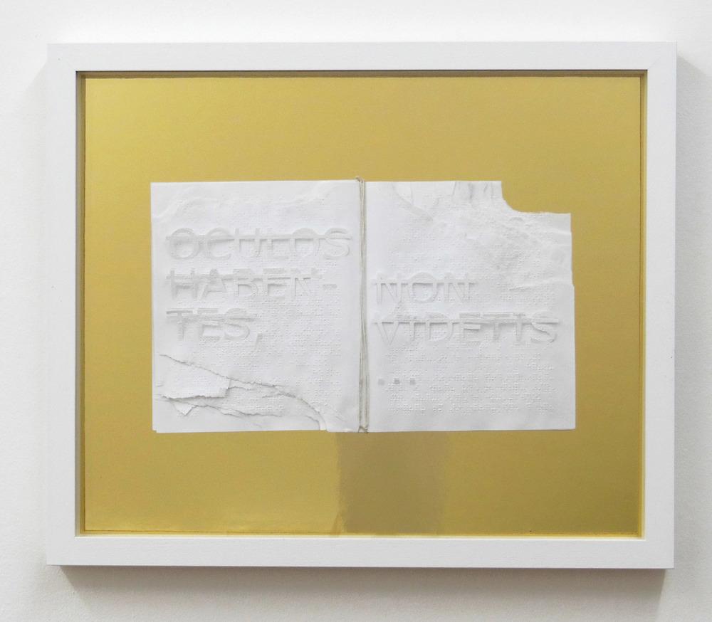 Sans titre (OCULOS HABENTES, NON VIDETIS…), 2014