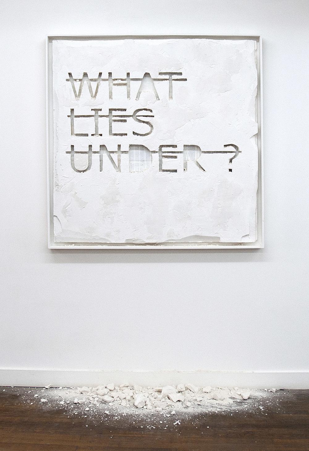 Sans titre (WHAT LIES UNDER?), 2012