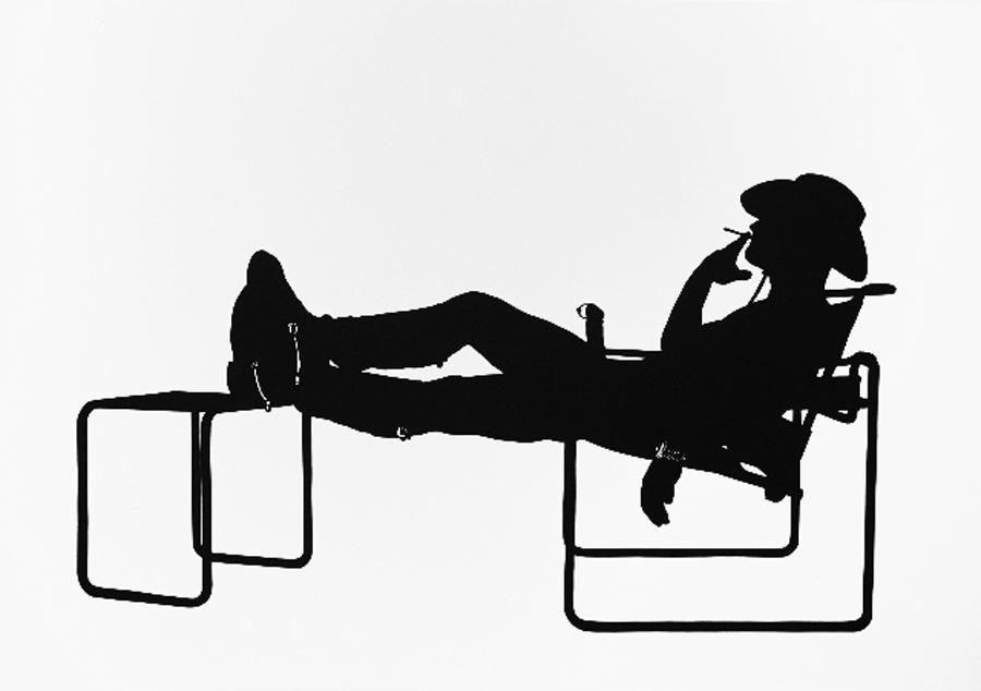 Stefan THIEL   Andreas + 2 Breuers  , 2011. Silhouette - Découpage \ Cut. 70 x 100 cm. © & Courtesy Stefan Thiel