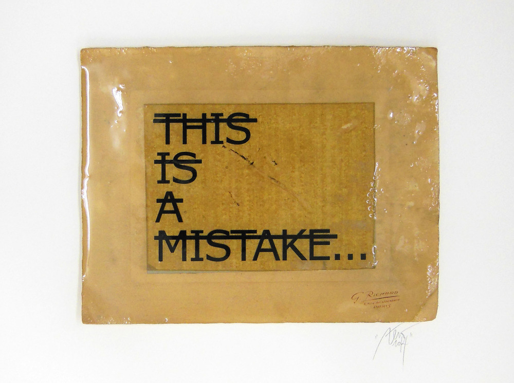 Sans titre (THIS IS A MISTAKE...), 2014