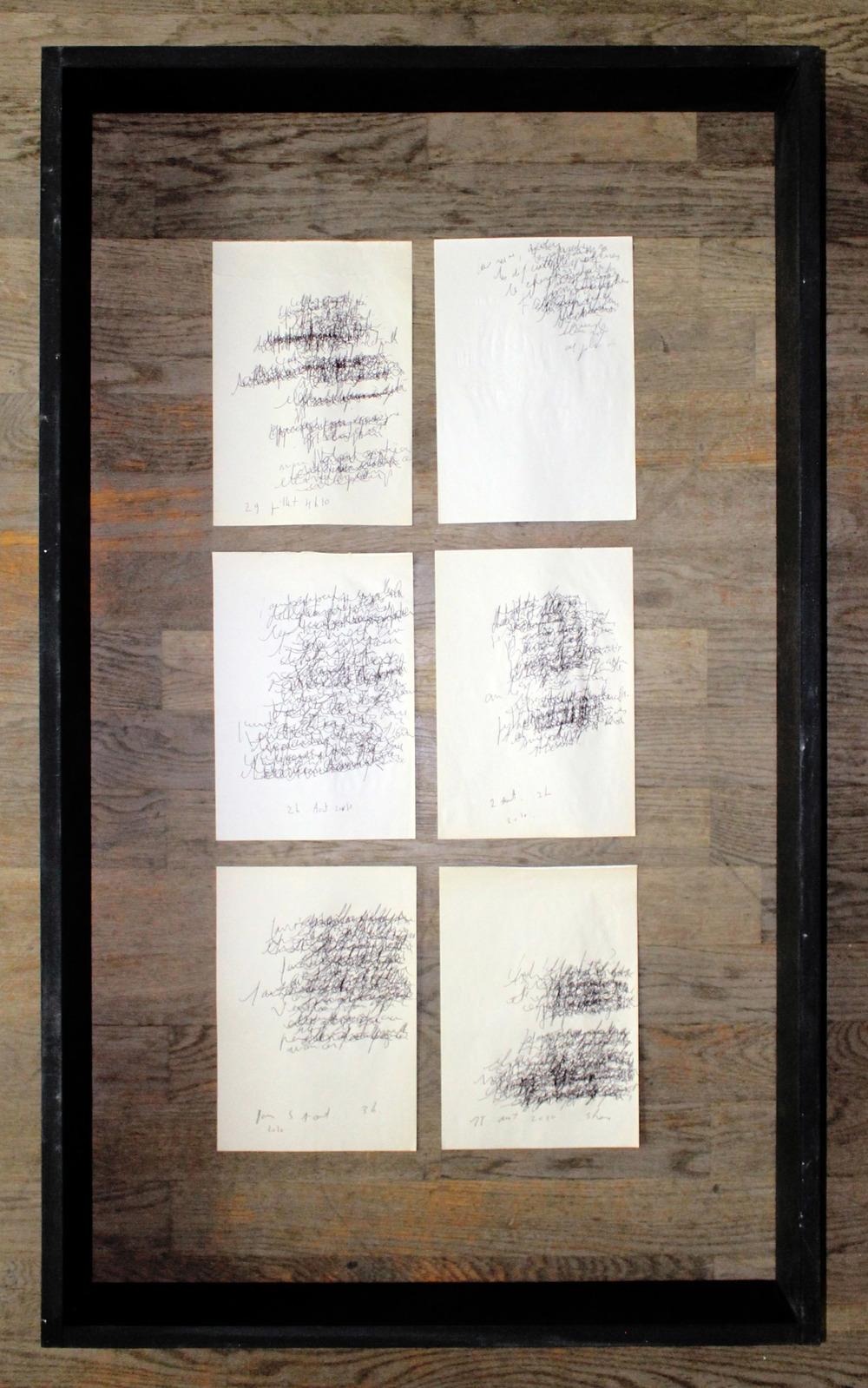 Couché sur le papier, vague 2, 2010