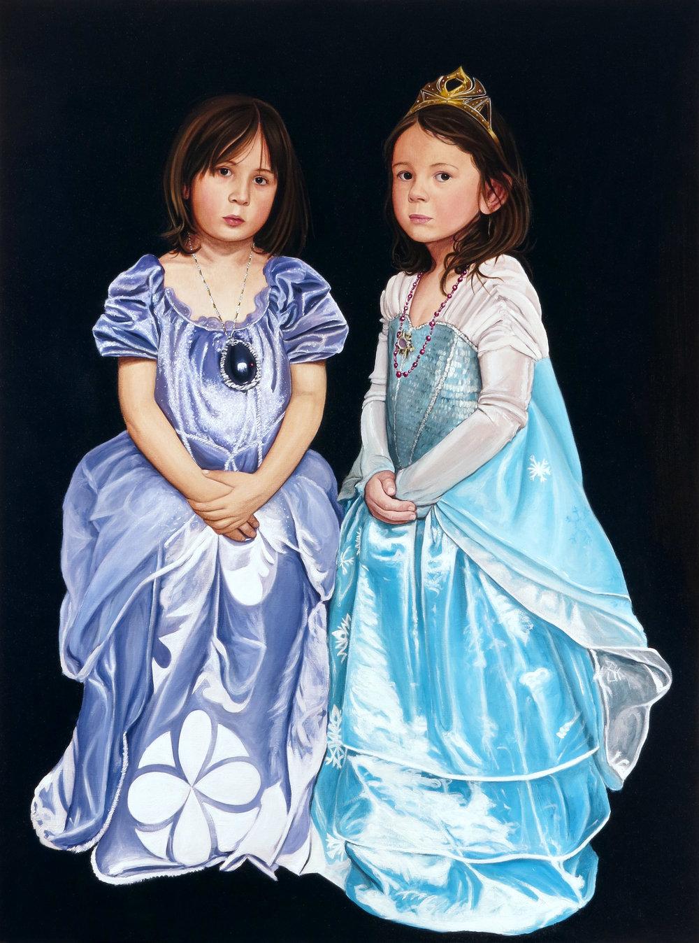 Les princesses, 2016. Huile sur toile / Oil on canvas. 116 x 88,5 cm