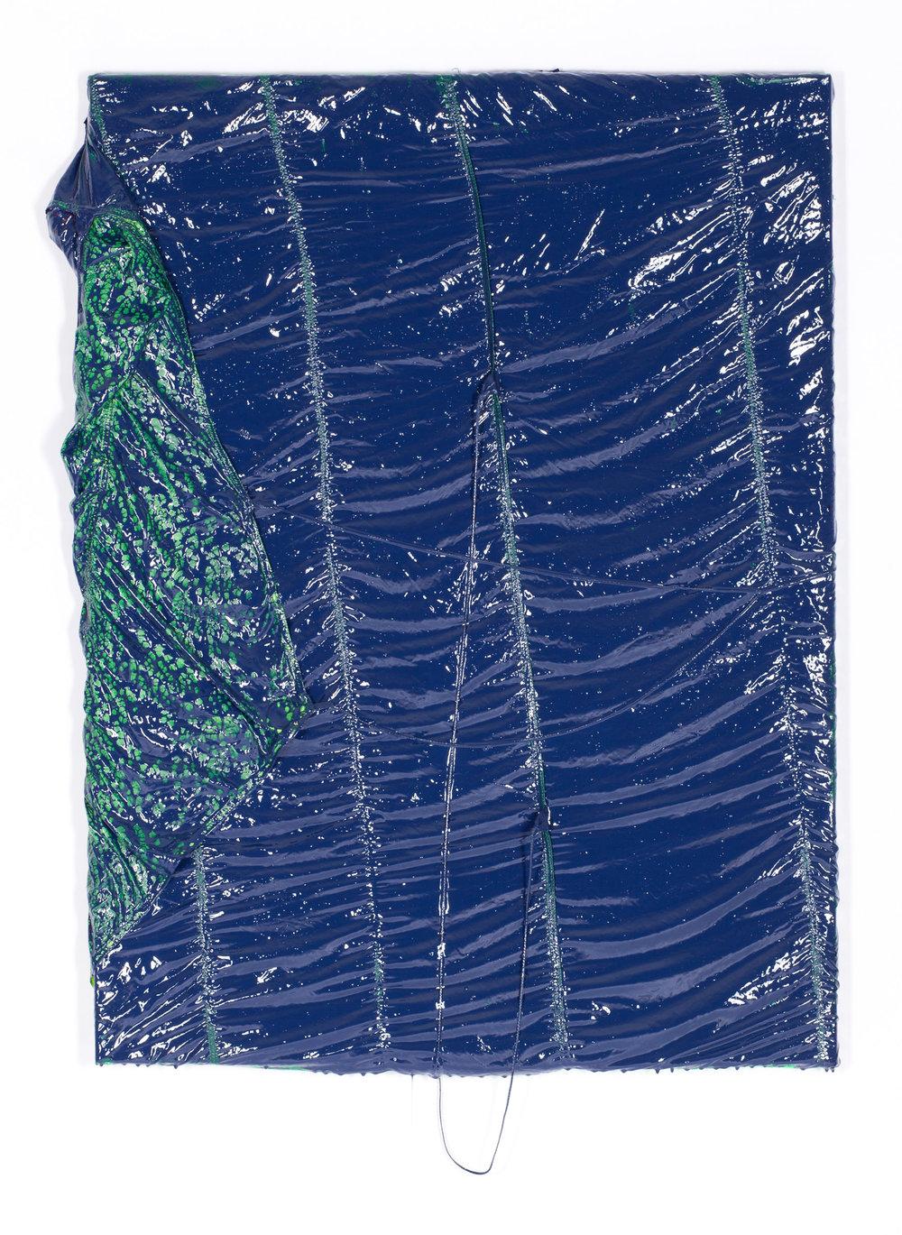 Parachute Painting (blue) #94, 2017