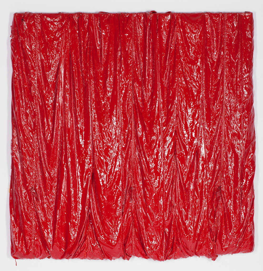 Parachute Painting (red) #101, 2017