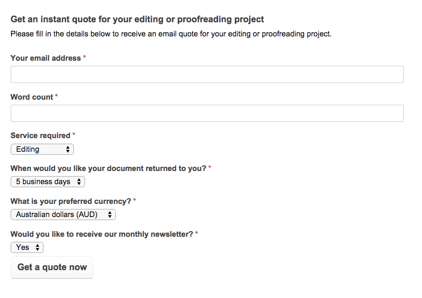 how to quote a project