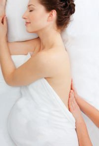 Side-lying position is very comfortable for prenatal massage!