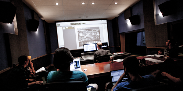 Students in Studio A at Pyramind Training, San Francisco