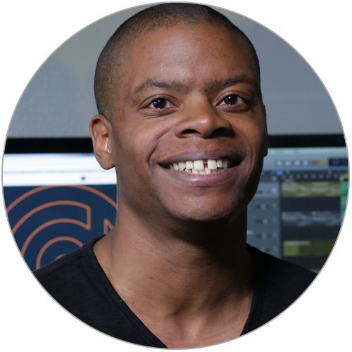 """Mario Graham - Sound Design 201 - Mario embodies the heart and soul of Pyramind! His unwavering positivity and desire to be helpful make him a sought-after coach and mentor as well as a fantastic Sound Design instructor. As a Logic and Live user, he's extremely well-versed with the synths of both tools and has a very unique approach to Sound Design. His main goal as instructor is to breakdown barriers to understanding and to open possibilities of creativity for students. He loves to """"break the rules"""" and make great sounds in new and unexpected ways. He has great taste in music as well :)."""