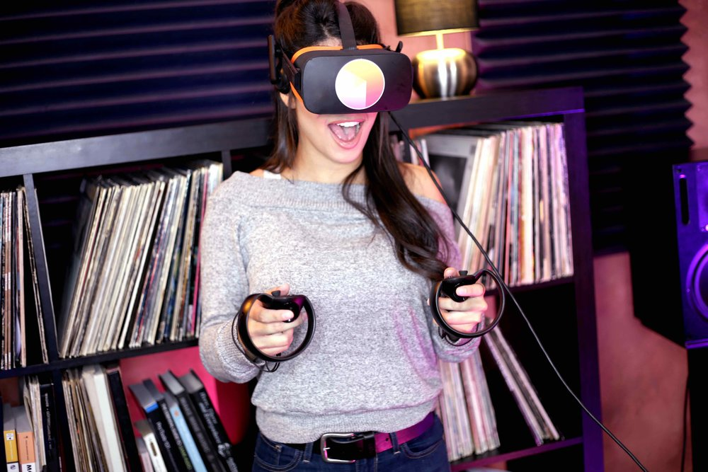 Grab the Tribe App - …and plug in your favorite VR rig to log into the VR DJ space…GET THE APP(Available on the Oculus Rift coming to Vive soon)