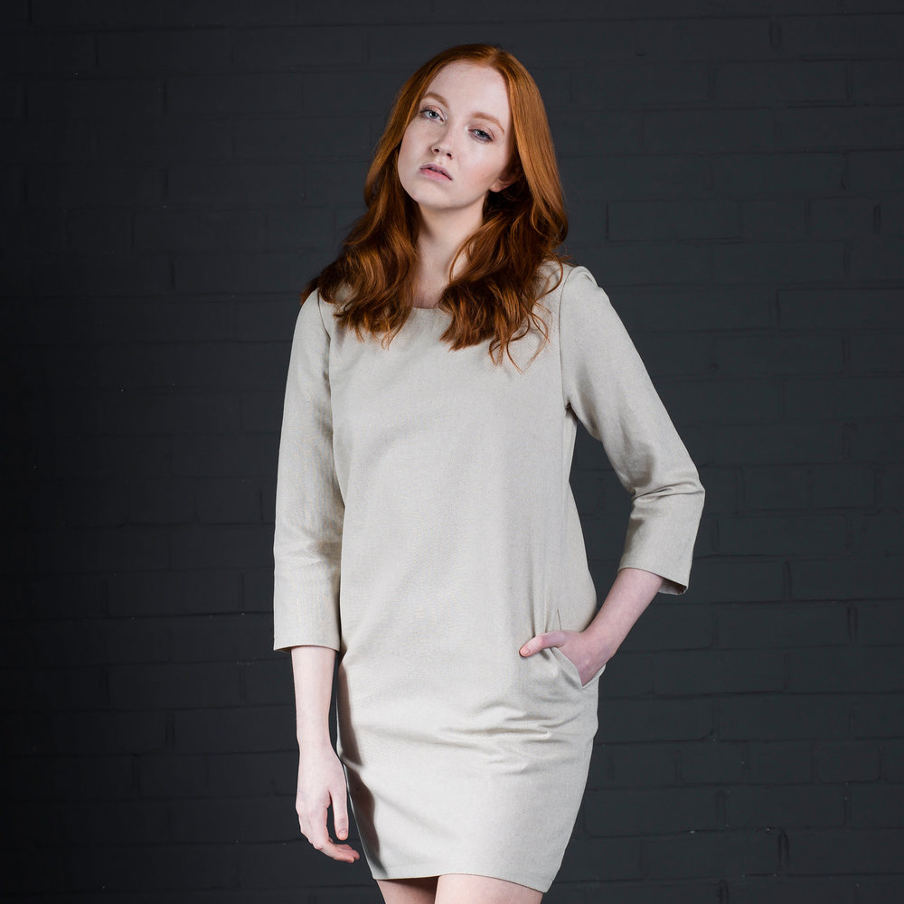 Liv dress batch manufactured in your fabric by kalopsia collective in scotland