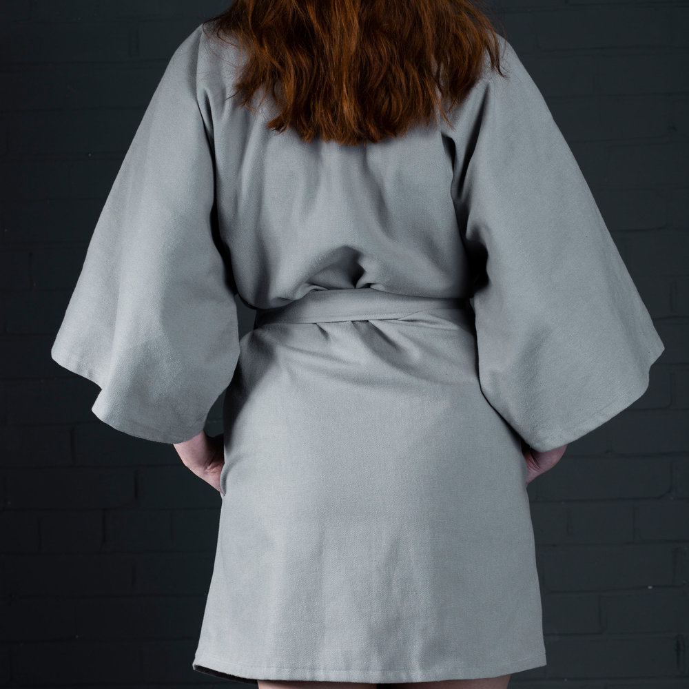 Kimono jacket batch manufactured in your fabric by kalopsia collective in Scotland