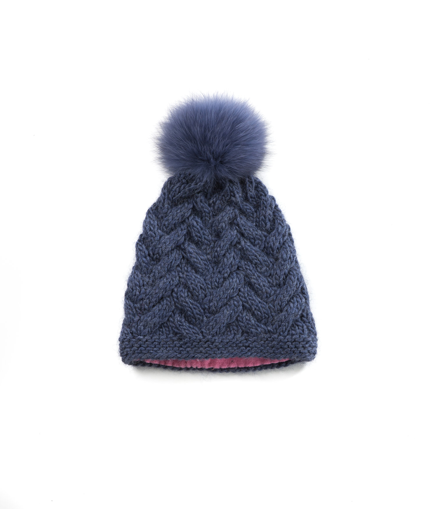 0f3a56a4befd9 KNIT BEANIE CAP TOQUE - DENIM CABLE KNIT HAT — Goble