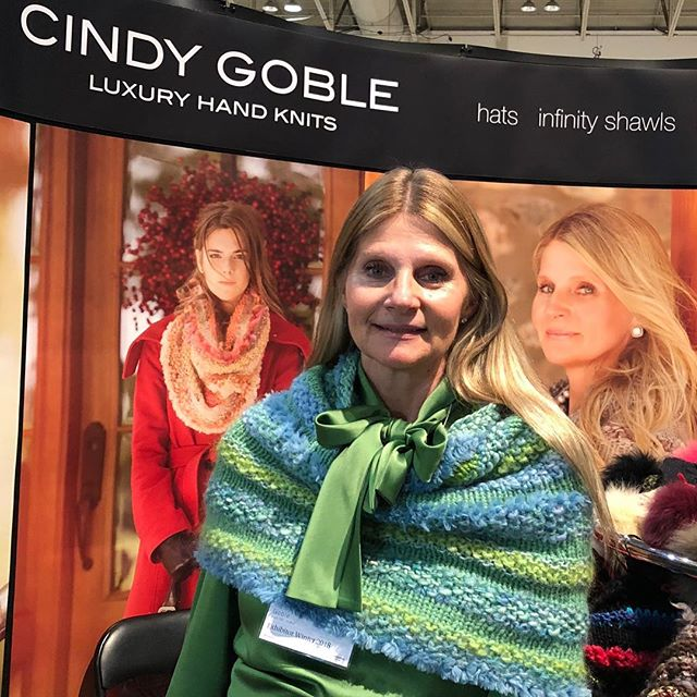 Today is the last day of the 2018 One of a Kind Show. Stop by my Booth P26 to touch and feel GOBLE luxurious knits! #GOBLE #ooak #handknit #scarves #hats