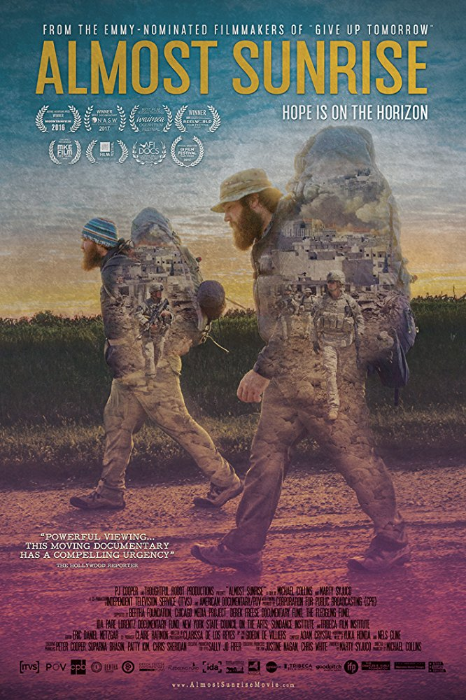 The epic journey of two friends, ex-soldiers, who battle the moral injuries of war, and the temptation to escape through suicide, as they walk across America