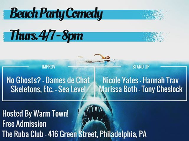 Free free free! Tonight tonight tonight! #free #tonight #8pm #beachpartycomedy