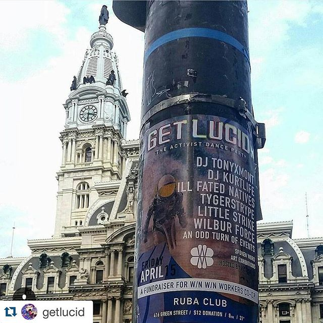 Tonight's the night! #Repost @getlucid  See you in a few! Doors at 8 Going until 3!  @winwincoffeebar @rubaclub @tonyxmont @kurthunte @ab5tract_nt3l @illfatednatives @littlestrikemusic @pdmpdmpdm @ayorkt @gabrieloguerrero @phillycats @w_tson @aotoeband @kozthekid @tha_lord @eskridgetheray @rosajoyg @experimentalfarmnetwork @riotalliance #phillycoops #philly #getlucid