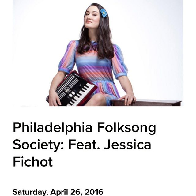 Tonight at 7pm Philly @folksongsociety evening with Jessica Fichot #folk #inspired