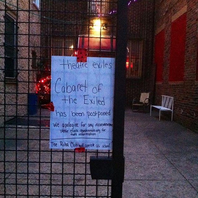 @theatreexile cabaret postponed!