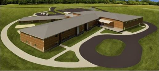 An aerial rendering of the proposed new design for Green Valley Elementary School.