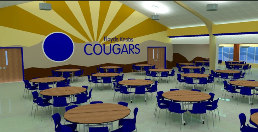 The proposed cafeteria redesign at Floyds Knobs Elementary.