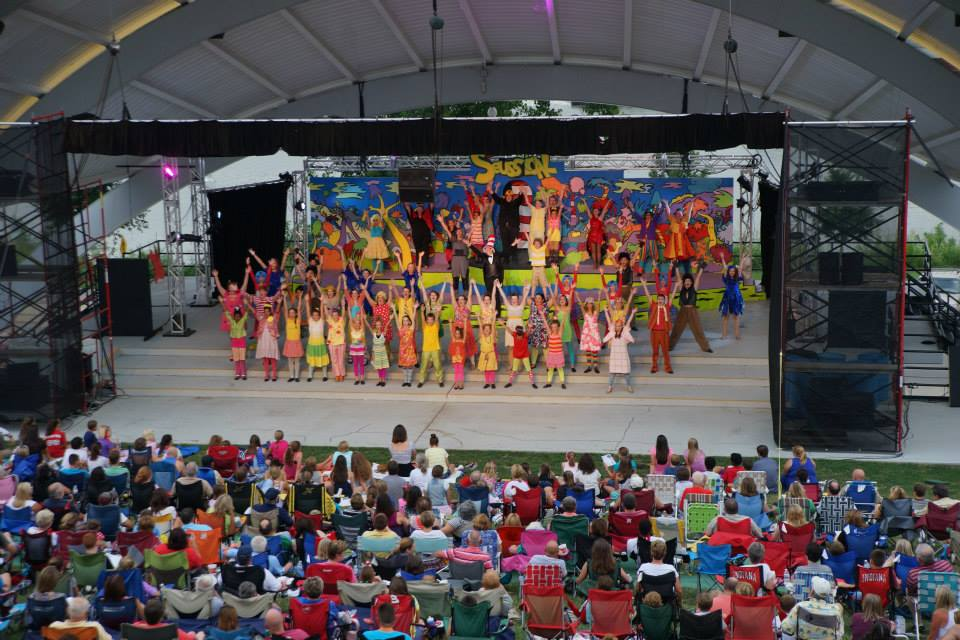 Seussical the Musical at the New Albany Riverfront Amphitheater, 2014.