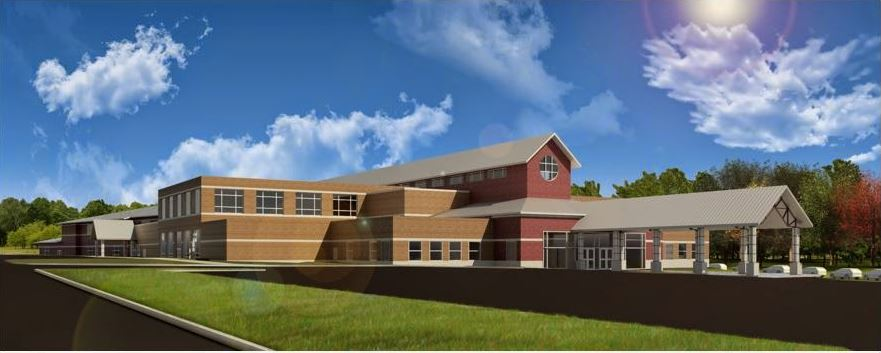 A rendering of the proposed rebuild of Slate Run Elementary.